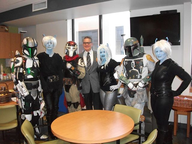 Mandalorians vs. Andorians at Galaxy Blood Drive 2013 in Providence, RI. Photo by Ryder Windham (pictured center)