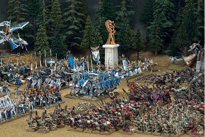 Two armies take the field in this Warhammer Scene.