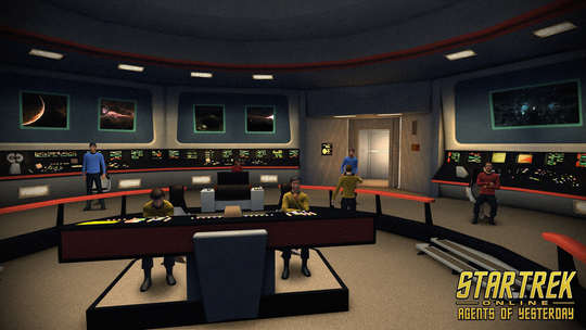 The bridge of the Enterprise as it appears in Star Trek Online