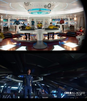 The bridge of the Enterprise (2009) and the bridge of the Shenzhou