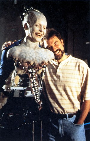 Jonathan Frakes and Alice Krige behind the scenes of 'Star Trek: First Contact'