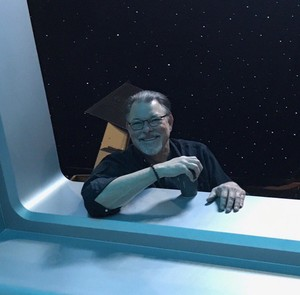 Jonathan Frakes on the set of 'The Orville'