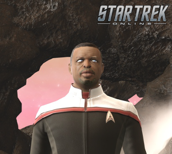 Star Trek Online screenshot of Captain Geordi LaForge from Season 14