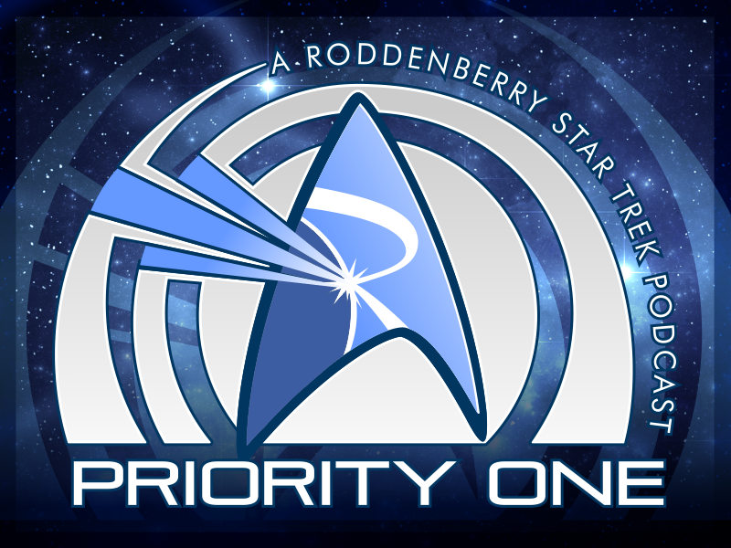 Priority One Podcast's Logo - Starry background