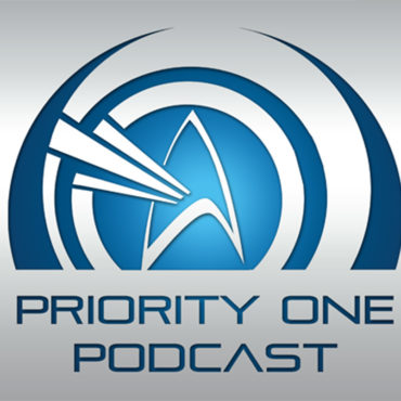 Priority One Podcast Logo -- Star Trek Delta with Concentric Circles radiating away